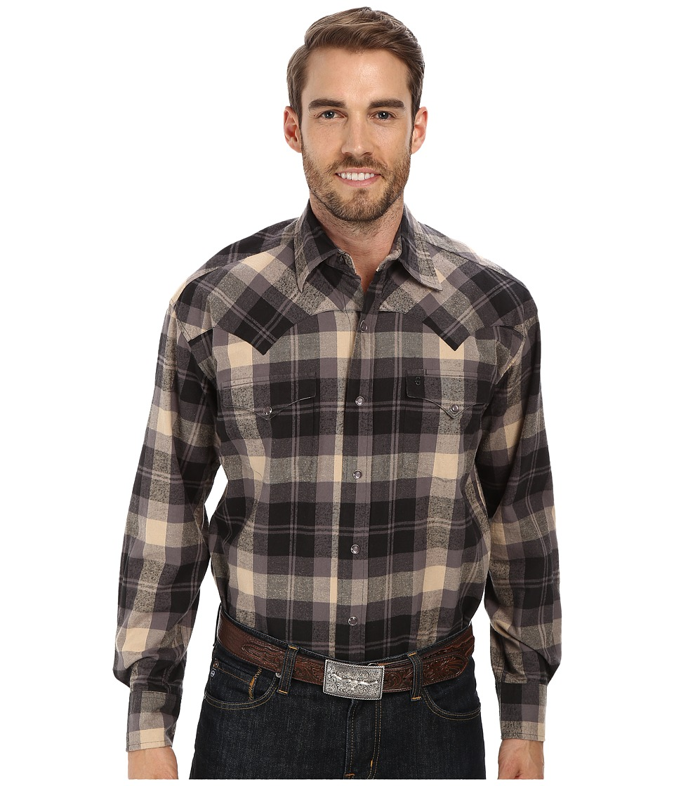 Stetson - 9432 Plaid (Black) Men's Clothing