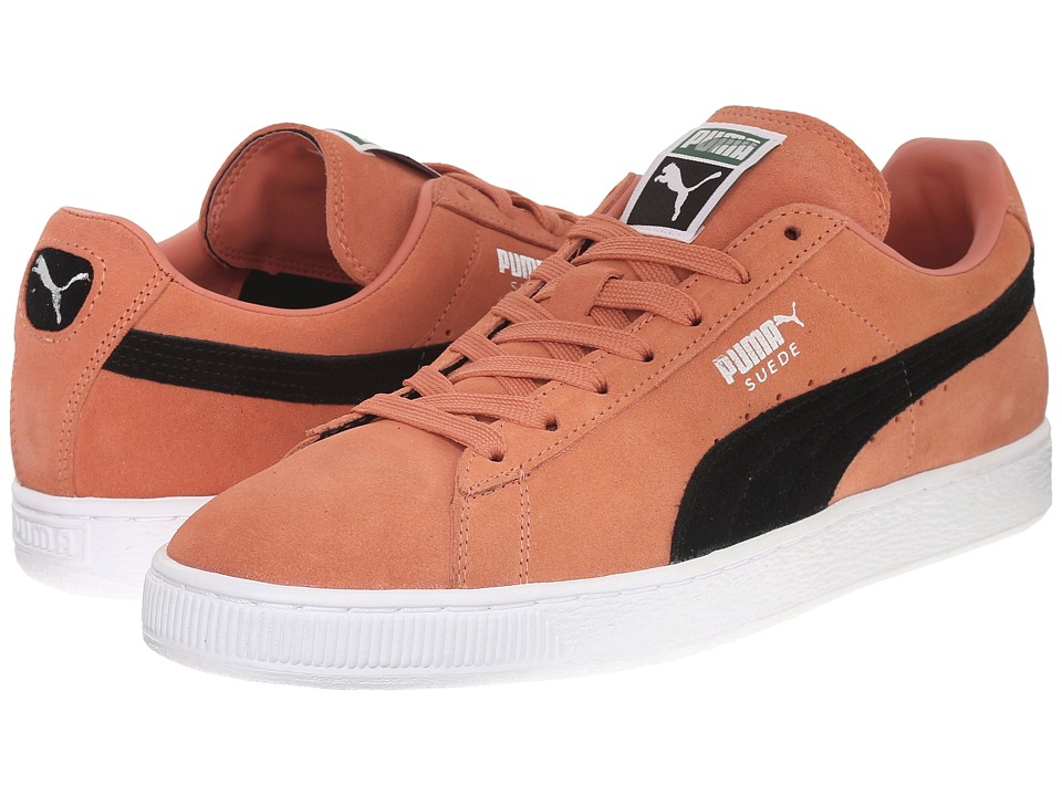 PUMA - Suede Classic+ (Nasturtium/Black) Men's Shoes