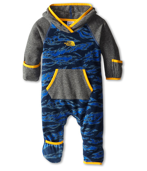The North Face Kids - Glacier One Piece (Infant) (Zinc Grey Heather) Kid's Jumpsuit & Rompers One Piece