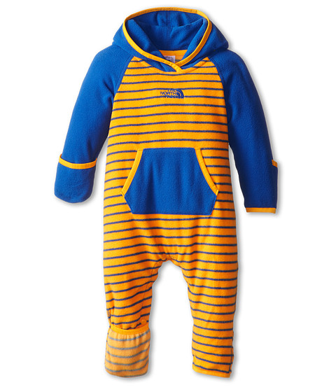 The North Face Kids - Glacier One Piece (Infant) (Monster Blue) Kid's Jumpsuit & Rompers One Piece