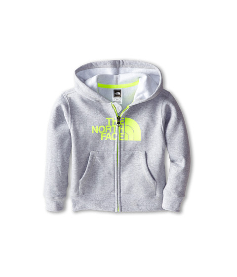 The North Face Kids - Logowear Full Zip Hoodie (Toddler) (Heather Grey) Boy's Sweatshirt