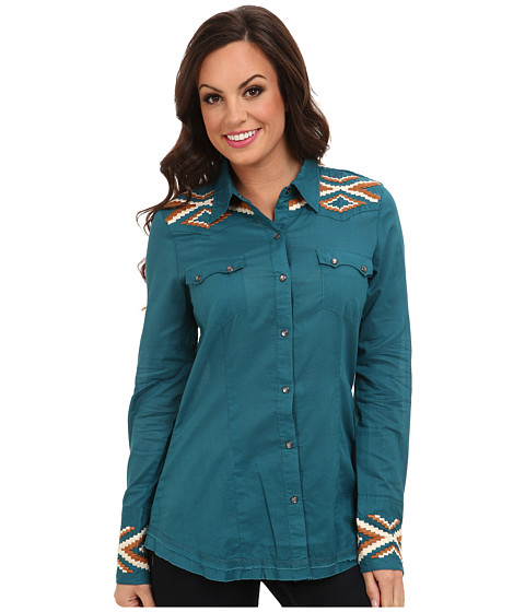 Stetson - 9322 Solid Lawn Shirt (Green) Women's Clothing