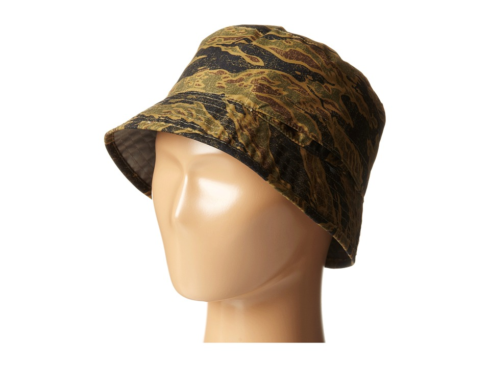 The North Face Kids - Youth Sun Stash Hat (Army Green Tiger Camo Print/Metallic Silver) Caps