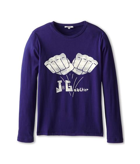 Junior Gaultier - Milian Tee Shirt (Big Kid) (Blue Electrique) Boy