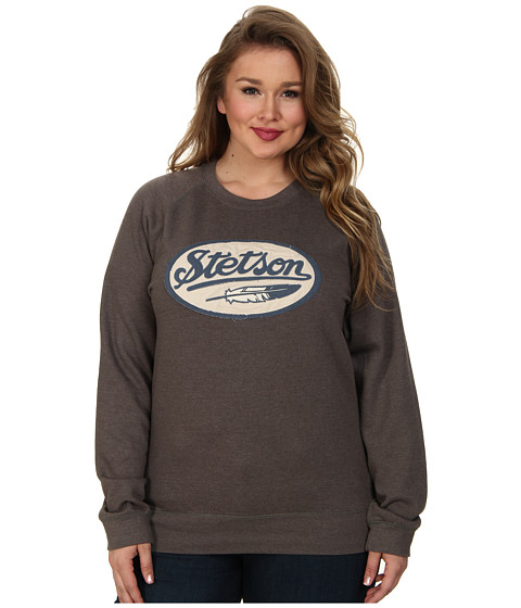 Stetson - Plus Size 30008 Sweat Shirt Pullover (Grey) Women's Clothing