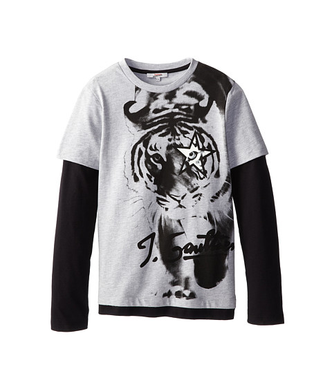 Junior Gaultier - Meddi Tee Shirt (Big Kid) (Gris Chine) Boy