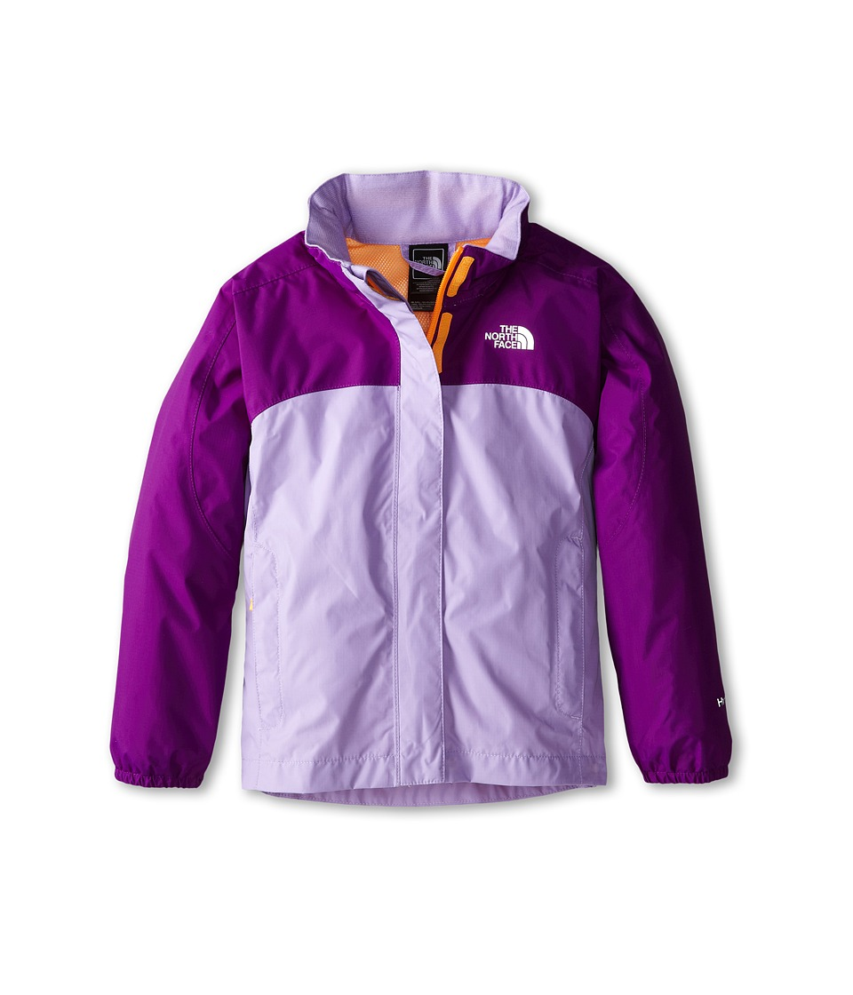 The North Face Kids - Girls Resolve Jacket (Little Kids/Big Kids) (Iris Purple/Violet Tulip Purple) Girl's Coat