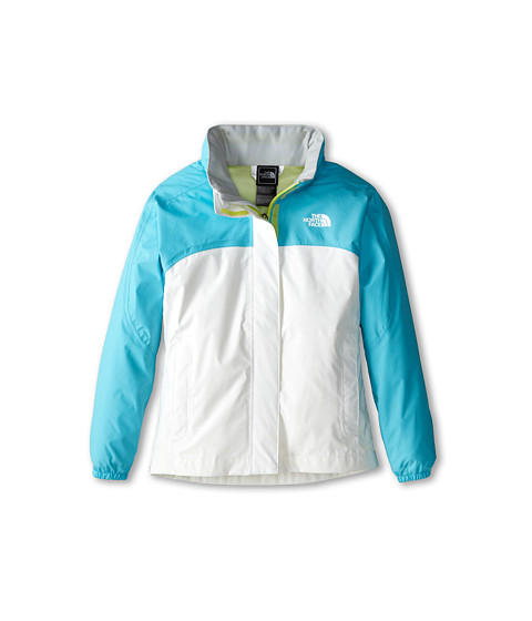 The North Face Kids - Girls Resolve Jacket (Little Kids/Big Kids) (Fortuna Blue/TNF White) Girl's Coat