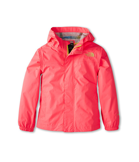 The North Face Kids - Girls' Zipline Rain Jacket (Little Kids/Big Kids) (Sugary Pink/Hamachi Yellow) Girl's Coat