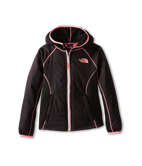 The North Face Kids - Petrel Hybrid Wind Jacket (Little Kids/Big Kids) (TNF Black) Girl