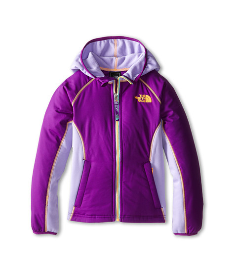 The North Face Kids - Petrel Hybrid Wind Jacket (Little Kids/Big Kids) (Iris Purple) Girl's Coat