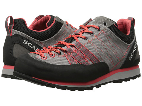 Scarpa - Crux Canvas (Grey/Red) Women's Shoes