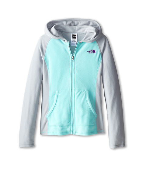 The North Face Kids - Glacier Full Zip Hoodie (Little Kids/Big Kids) (High Rise Grey) Girl