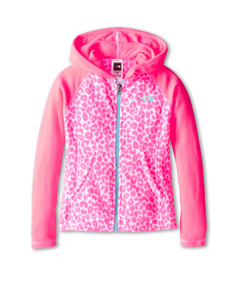 The North Face Kids - Glacier Full Zip Hoodie (Little Kids/Big Kids) (Sugary Pink) Girl's Sweatshirt