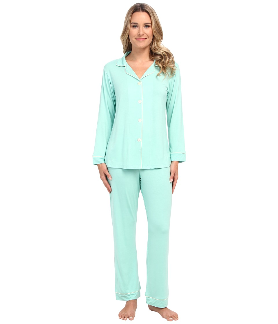 BedHead - Classic Stretch PJ Set Solid (Solid Mint) Women's Pajama Sets