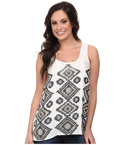 Stetson - 8954 Beaded Tank (White) Women