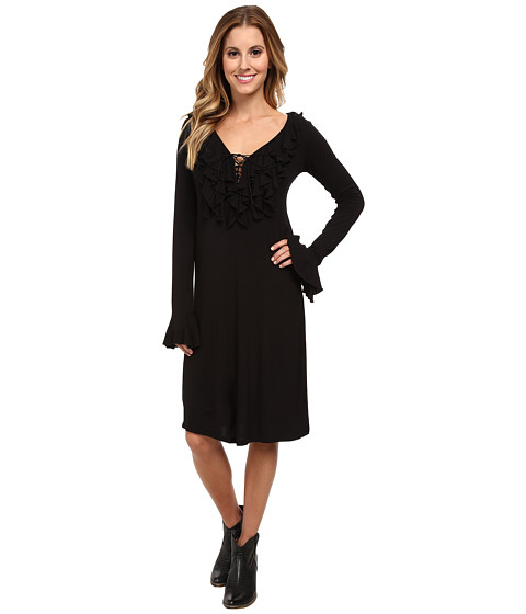 Stetson - 9421 Rayon Spandex Jersey Dress (Black) Women