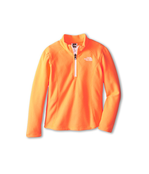 The North Face Kids - Glacier 1/4 Zip (Little Kids/Big Kids) (Vitamin C Orange) Girl