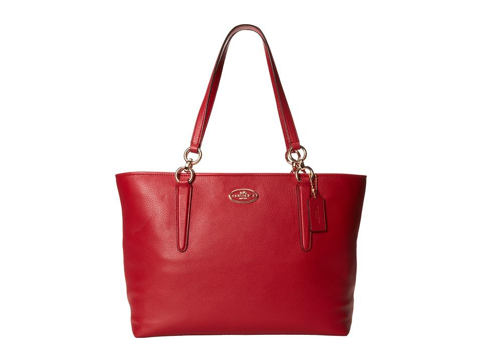 COACH - Chicago Ellis Tote (Light/Red Currant) Tote Handbags