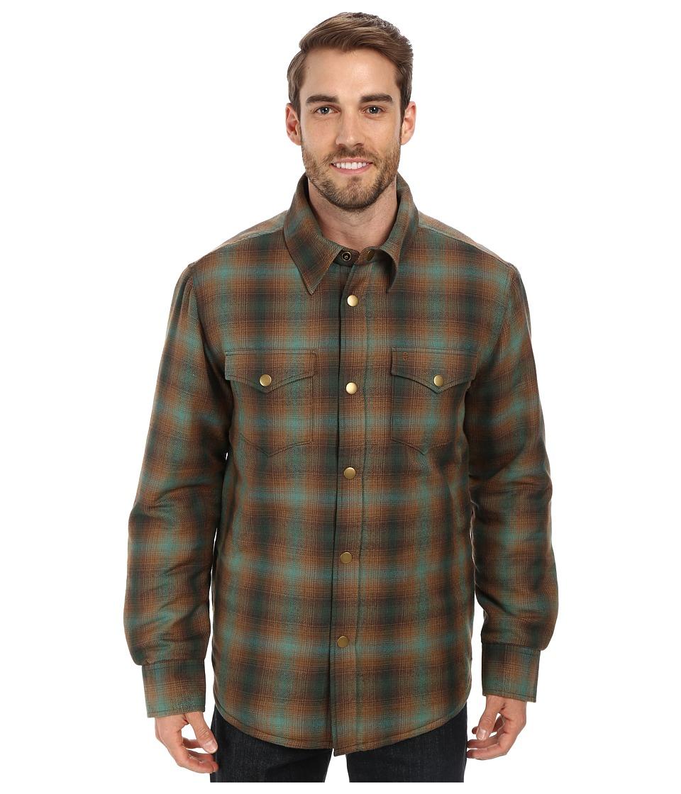 Stetson - 9601 Plaid Wood Blend Coat (Green) Men's Coat