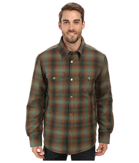 Stetson - 9601 Plaid Wood Blend Coat (Green) Men