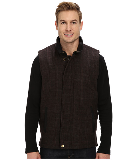 Stetson - Wool Plaid Vest 9720 (Brown) Men