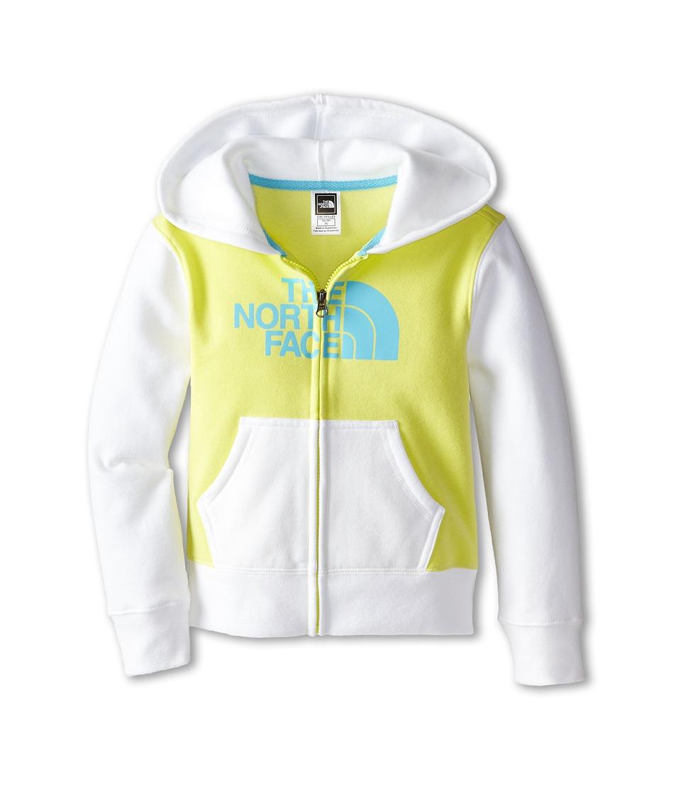 The North Face Kids - Half Dome Full Zip Color Block Hoodie (Little Kids/Big Kids) (Himachi Yellow) Girl's Sweatshirt