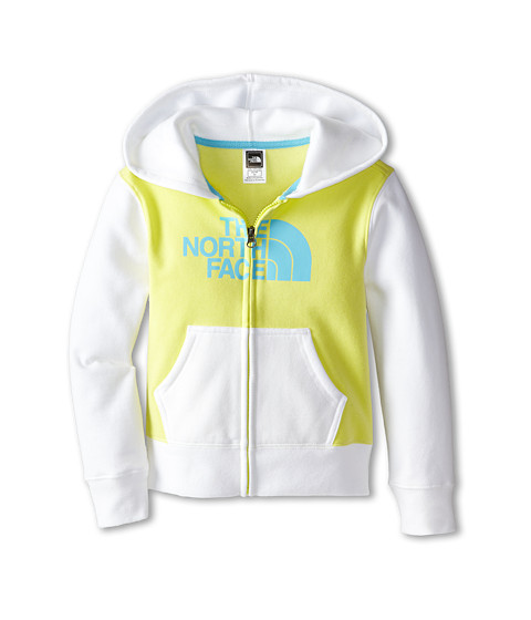 The North Face Kids - Half Dome Full Zip Color Block Hoodie (Little Kids/Big Kids) (Himachi Yellow) Girl