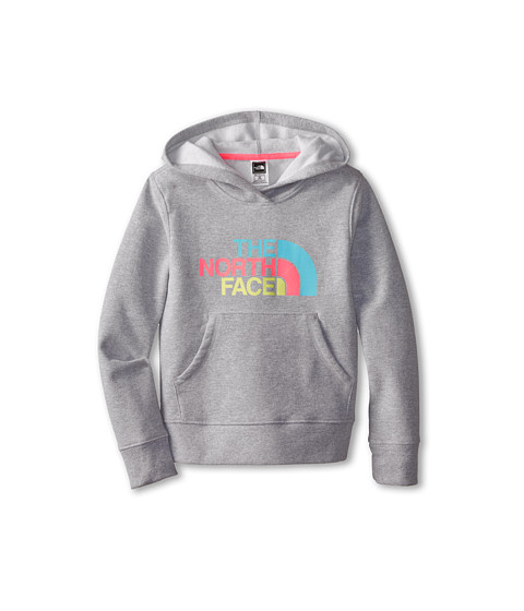 The North Face Kids - Multi Half Dome Pullover Hoodie (Little Kids/Big Kids) (Heather Grey) Girl's Sweatshirt