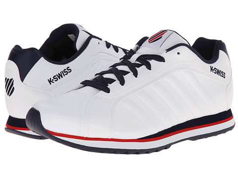 K-Swiss - Verstad III S (White/Navy/Navy/Red) Men's Shoes