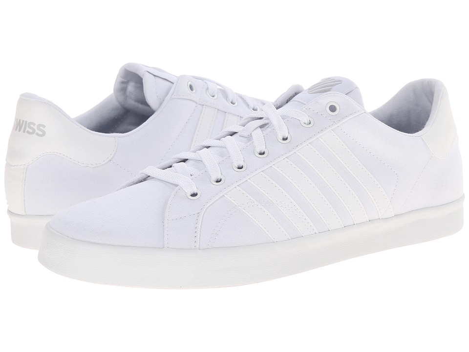 K-Swiss - Belmont SO Ttm (White/Gull Gray) Men's Tennis Shoes