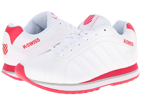 K-Swiss - Verstad III S (White/Raspberry) Women's Shoes