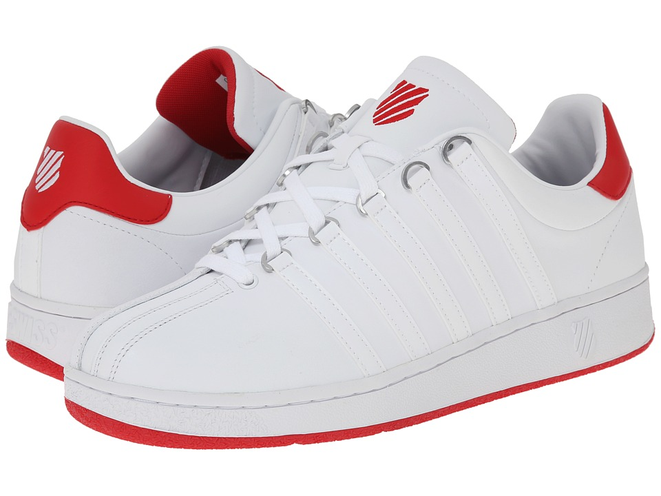 K-Swiss - Classic VN (White/Red/White) Men's Shoes