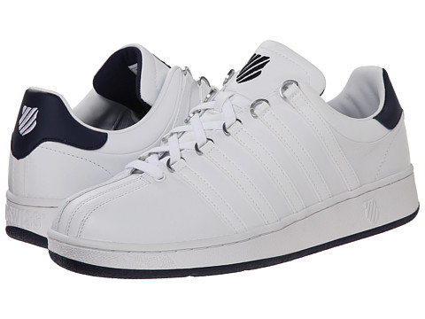 K-Swiss - Classic VN (White/Navy/White) Men's Shoes
