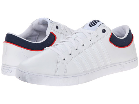 K-Swiss - Adcourt '72 SO (White/Navy/Red) Men's Tennis Shoes