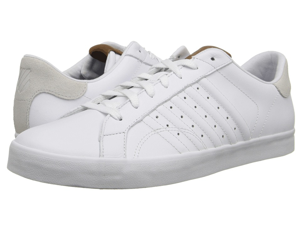 K-Swiss - Belmont (White/Bone) Men's Tennis Shoes