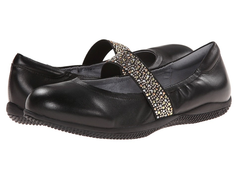 SoftWalk High Point (Black Soft Nappa Leather w/ Studded Elastic) Women