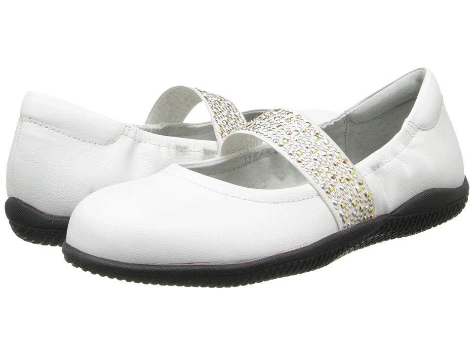 SoftWalk High Point (White Soft Dull Leather w/ Studded Elastic) Women