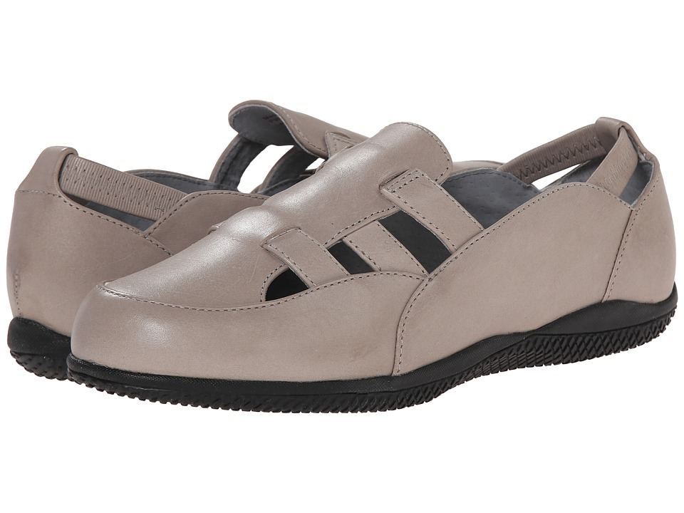 SoftWalk - Hampton (Light Grey Soft Dull Leather) Women