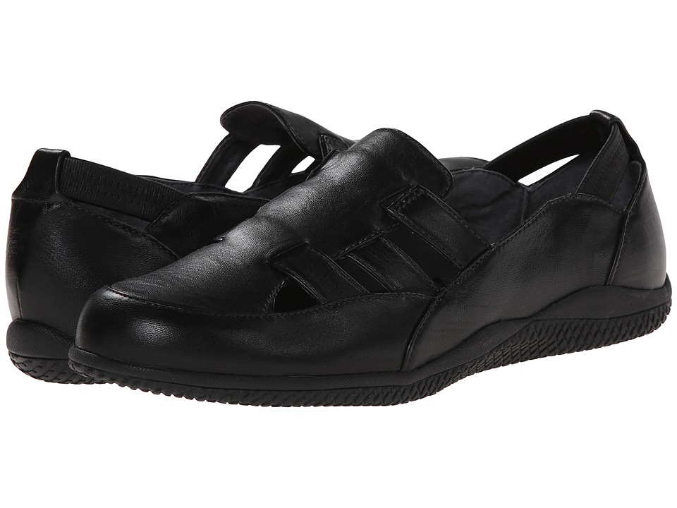 SoftWalk - Hampton (Black Soft Kid Leather) Women