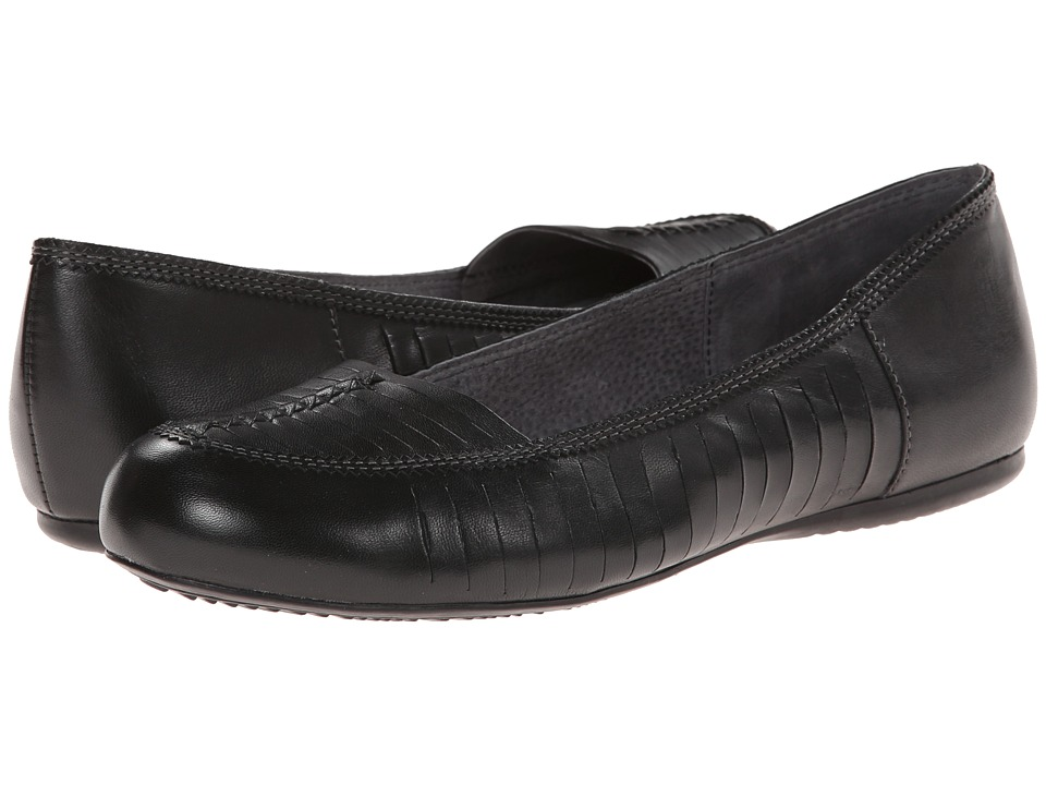 SoftWalk - Natchez (Black Burnished Veg Kid Leather) Women