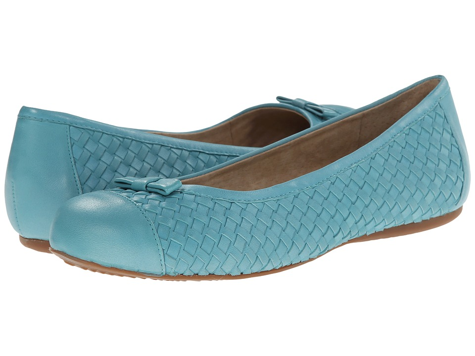SoftWalk Naperville (Ocean Blue Woven Soft Nappa Leather) Women