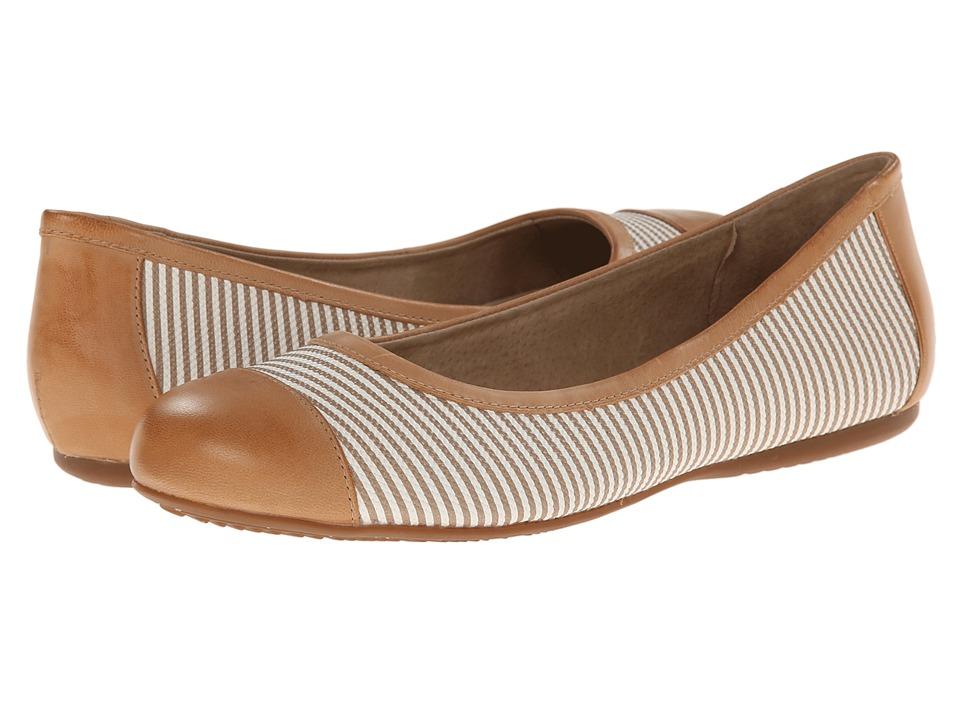 SoftWalk - Napa (Khaki/White/Nude Seersucker Leather) Women's Flat Shoes