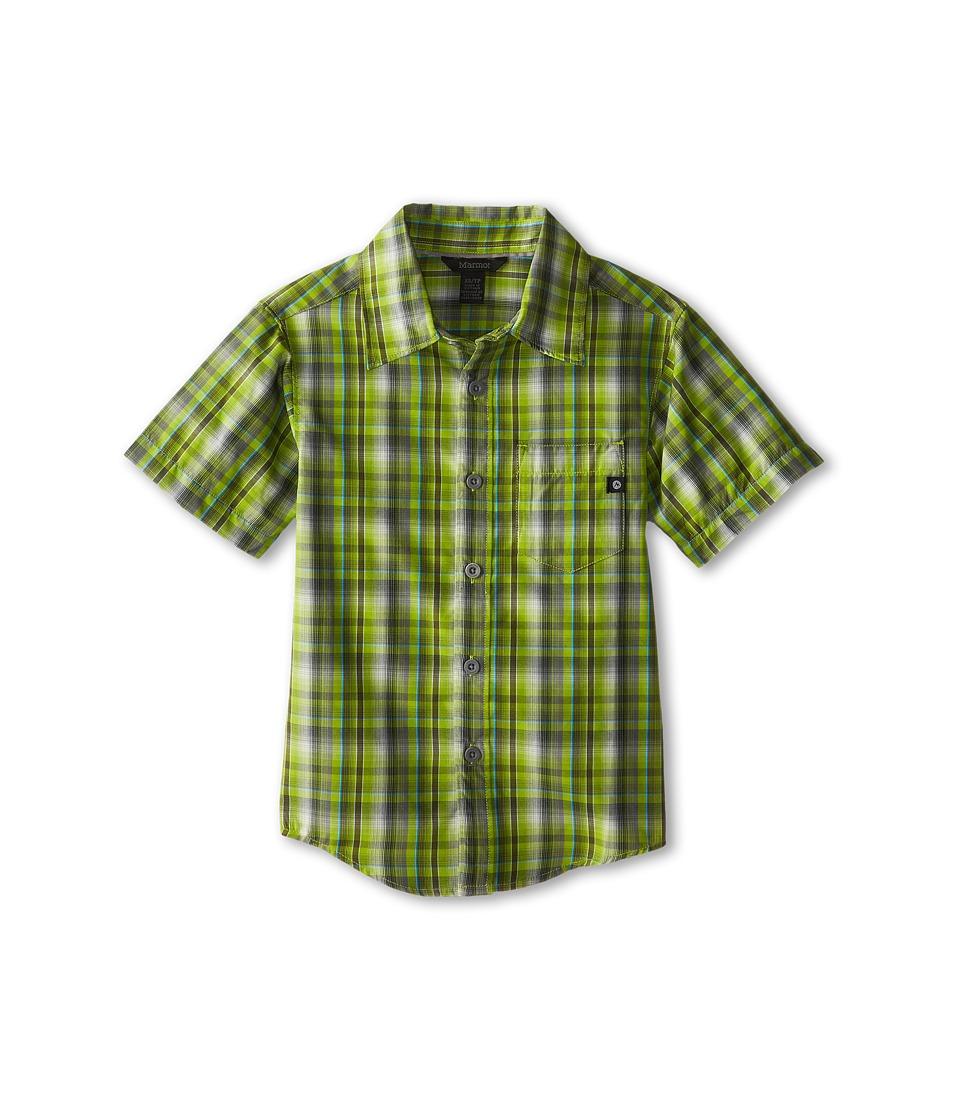 Marmot Kids - Waldron S/S Top (Little Kids/Big Kids) (Green Lichen) Boy's T Shirt