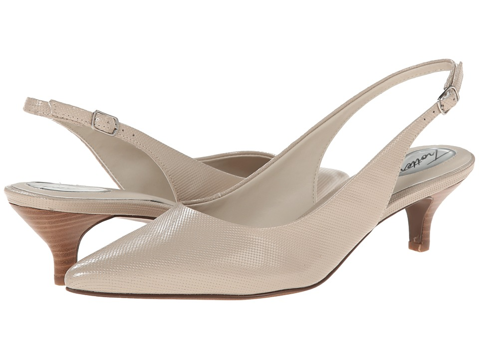 Trotters - Prima (Nude Mini Embossed Patent Leather) Women's 1-2 inch heel Shoes
