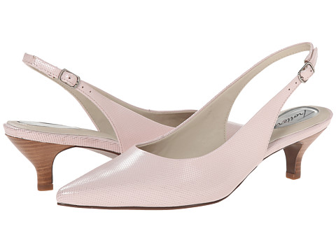 Trotters - Prima (Pale Pink Mini Embossed Patent Leather) Women's 1-2 inch heel Shoes