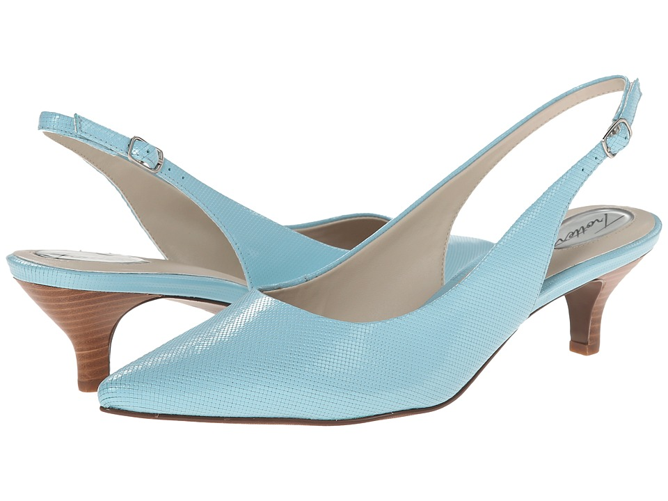 Trotters - Prima (Aqua Mini Embossed Patent Leather) Women's 1-2 inch heel Shoes