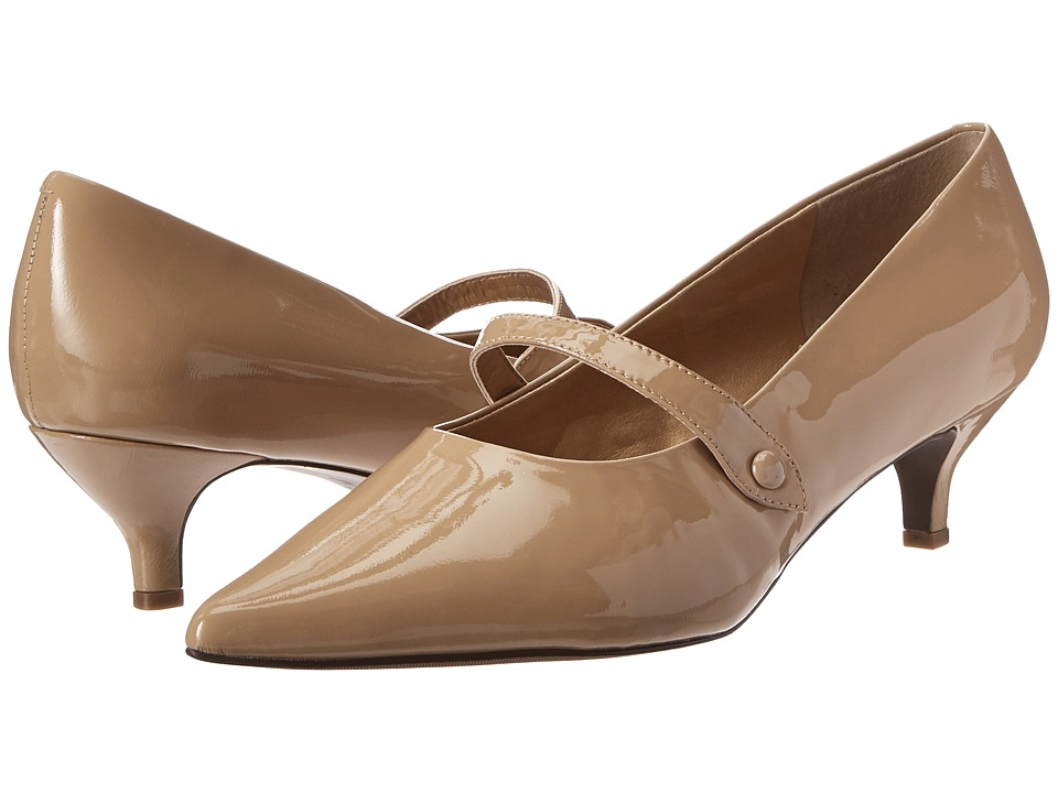 Trotters - Petra (Nude Patent Leather) Women's 1-2 inch heel Shoes