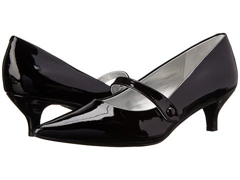 Trotters - Petra (Black Patent Leather) Women's 1-2 inch heel Shoes