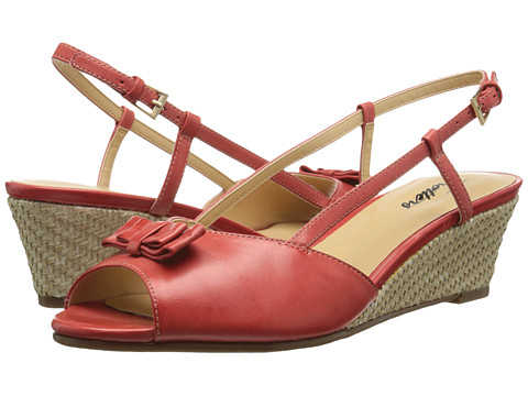 Trotters - Milly (Red Soft Dull Leather) Women's Wedge Shoes